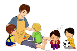 Aiba and kids arashi by Hitori-Hareru