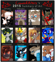 2015 Art Summary AKA STYLE FLUNCTIATION by CrownedVictory
