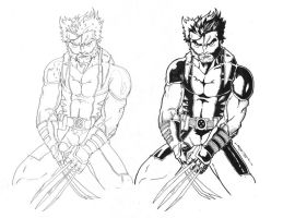 Wolveroonie Pencils and Inks by Jason-FH-Art