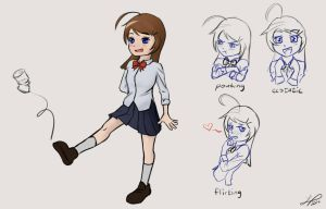 Young girl expression practice by ElleranS