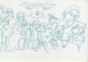 Camp Halfblood pencil scan by EACR