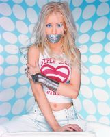 Christina Aguilera gagged by ikell