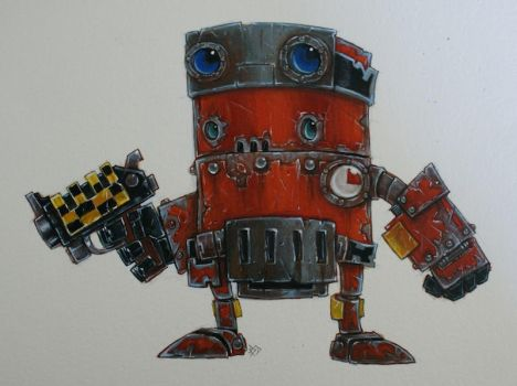 Red Tribe Scrapbot by SpaceCowSmith