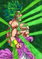 Broly Transforming by ChahlesXavier