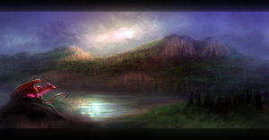Dark Lakeside :Speed Painting: by Enigmatic-Ki
