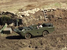 Amphibious Jeep in the mud by RedtailFox