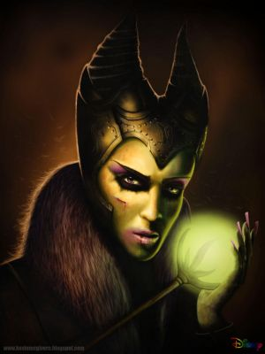 Maleficent re-design by kevmcgivernart
