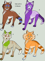 Point Adoptable Wolves 2 by Kainaa