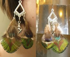 Unique Feather Earrings 11 by SPPlushies