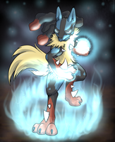Mega Lucario by Mekamaned