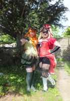 Steampunk Harley Quinn and Poison Ivy 1 by LanniePossum