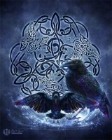 Celtic Raven by brigidashwood