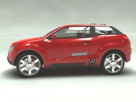 suv concept in red by dwiirawan