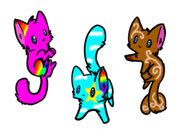 Cute cats for Adopt by pinkamainia