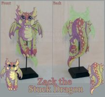 Zack the Stuck Dragon by StrayaObscura