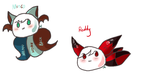 [FB Request] - Reddy and Minco by eevee2glaceon09