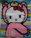 HELLO KITTY GLOOMY BEAR KANDI by ZombieEatFlesh