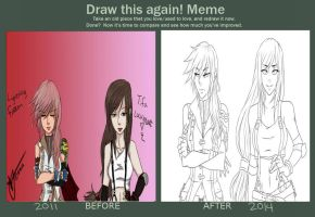 Draw Again Meme: Lightning and Tifa by yulia-hime