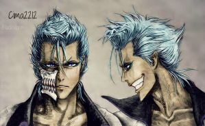 Grimmjow portraits by Dark-funhouse