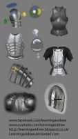 Armour rendering studies by Learningasidraw