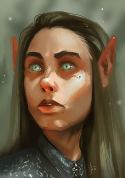 A portrait of an elf by SilverFable