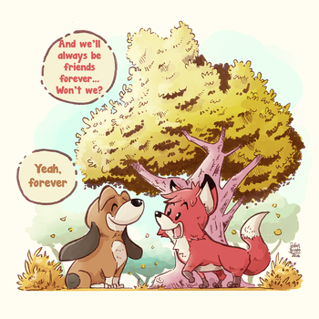The Fox and the Hound by rfl-obc