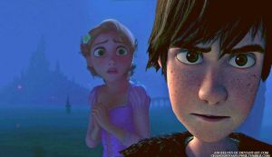 Rapunzel/Hiccup by angeelous-dc