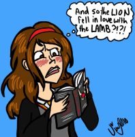 Hermione Reads Twilight by Shmivv
