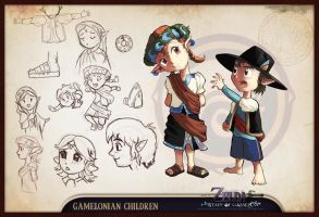 Concept Sheet - Gamelon Kids by lord-phillock