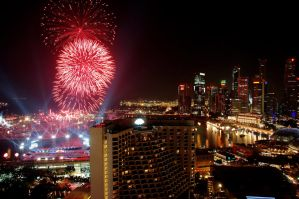 National Day Preview Fireworks by Soldi