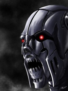 Cyborg red eyes by alexhp25
