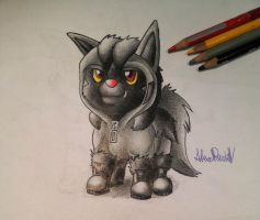 Hooded Poochyena by AlexisRendell
