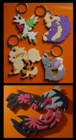 +50 Keychain Commissions: First 5 by SoftMonKeychains