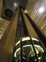 Atlanta Hyatt elevators by Barghest1031