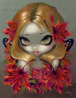 Red Maple Fairy by jasminetoad