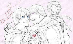 APH - Valentines - lineart by alatherna