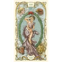Mucha Tarot preview:  XXI the world by andrearsandbabs