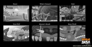 Concept Stages for BigHead Bash by SpicyHorseOfficial