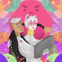 Bee+Puppycat+Deckard by Candy-Leptic