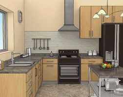 Kitchen Toonshaded by Liemn