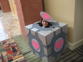 Companion Cube Cosplay by DancerofClouds