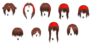 Front Hair with Accessories by MMDxDespair
