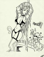 Felicia Stripper by punxsie