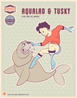 Aqualad and Tusky by daabcreative