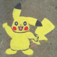 Chalk Pikachu  by pennywhistle444