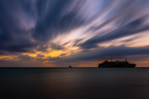 Sunset Wreck I by mhmalali