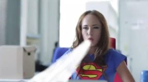 Supergirl shows what her superbreath can do by Superbreath
