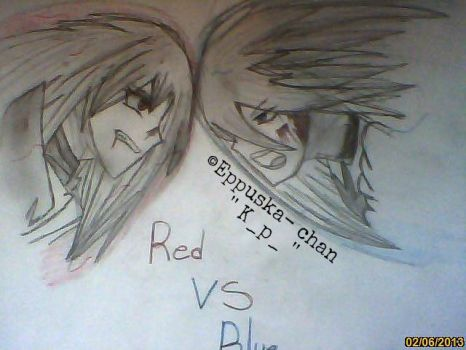 Red VS Blue by Eppuska-chan