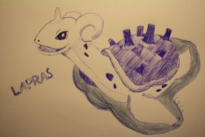 Lapras (Drawn with pen) by VeryaLiona