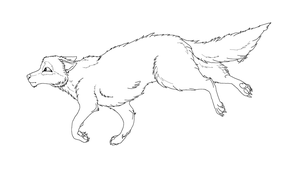 Wolf Lineart6 by foxy989